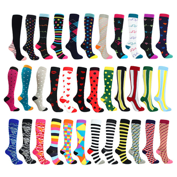 Running Men Women Socks Sports Compression Happy Tube Support Nylon Unisex Outdoor Racing Long Pressure Stockings High