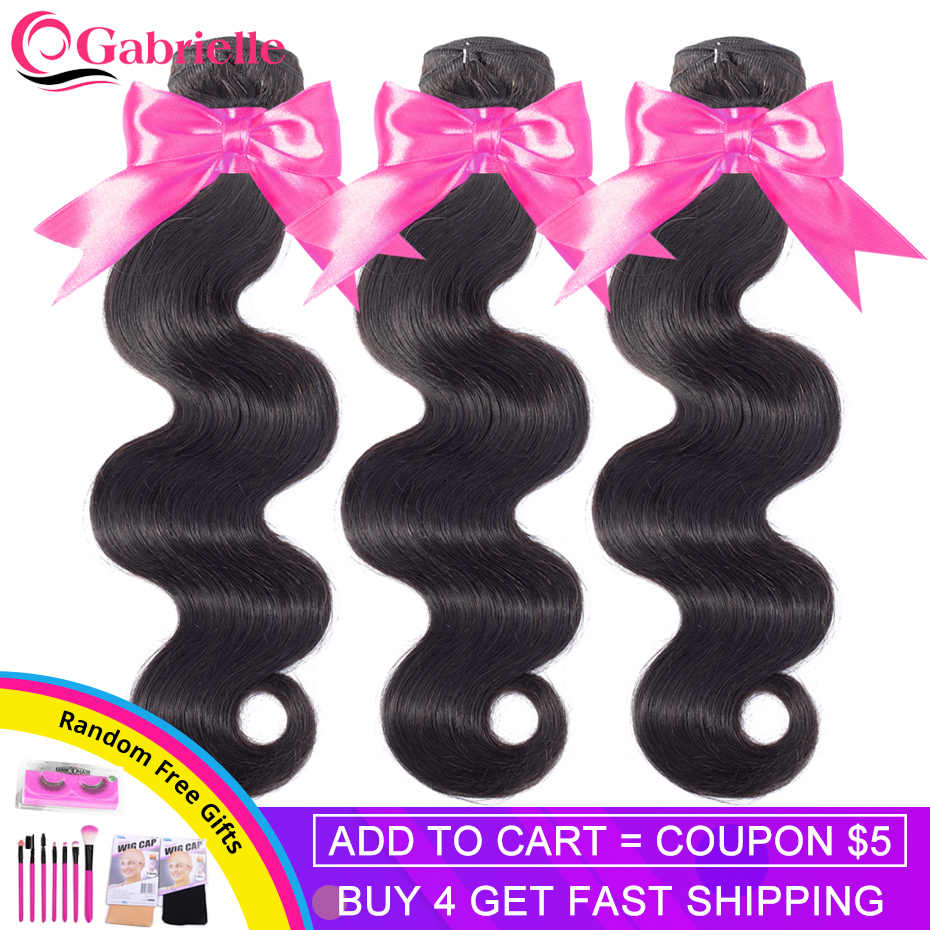 Gabrielle Brazilian Body Wave Hair Bundles 8-30 inch Long Hair Natural Color Remy Human Hair Weave Bundles Free Shipping