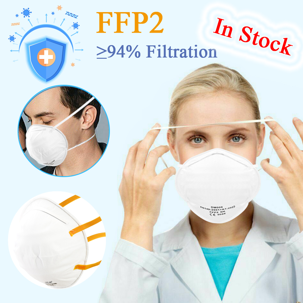 1pcs  маски защитные FFP2 Mask Anti Dust Protective Non-woven Mascherine Mouth Cover Safety Breathable Face Respirator PPE Mask