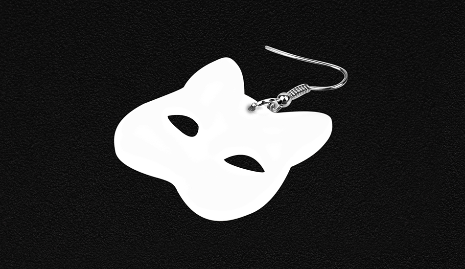 Halloween Black Cat Drop Earrings
