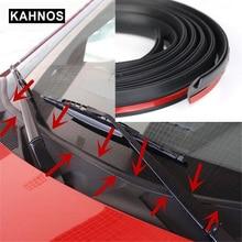Sello de goma para el parabrisas delantero y trasero, tiras de sellado a prueba de polvo para salpicadero de coche, parabrisas, 1 ~ 8 M