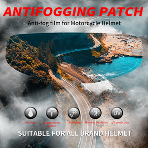 Image 2 - SOMAN 겨울 범용 오토바이 헬멧 바이저 필름 안티 안개 바이저 헬멧 av04에 대한 높은 지우기 오토바이 헬멧 렌즈 필름