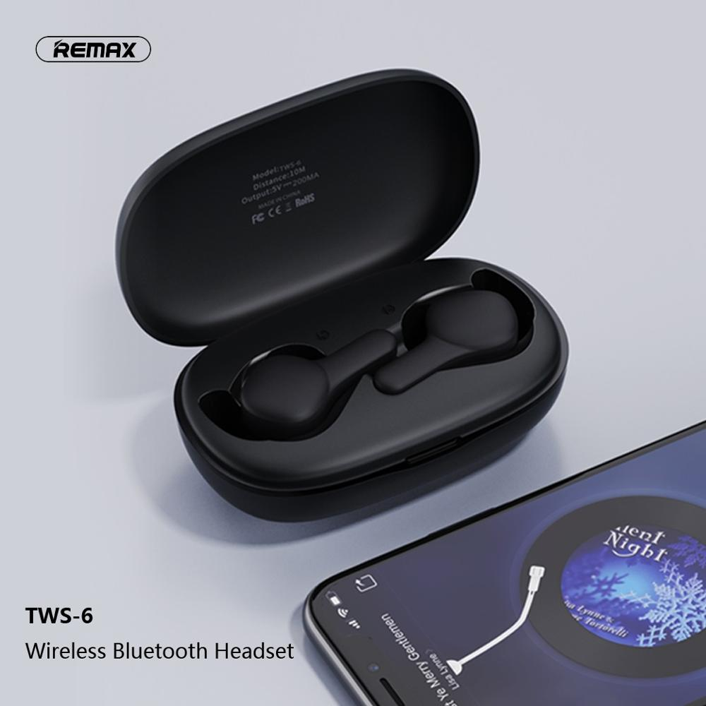 Remax TWS 6 Low Power Consumption Comfortable Wireless Bluetooth Headset Support iOS/Android Phones HD Call|Bluetooth Earphones & Headphones| - AliExpress