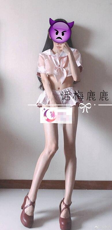 福利姬@小千代(话梅鹿鹿)樱桃-白色女仆装【93P/13V】