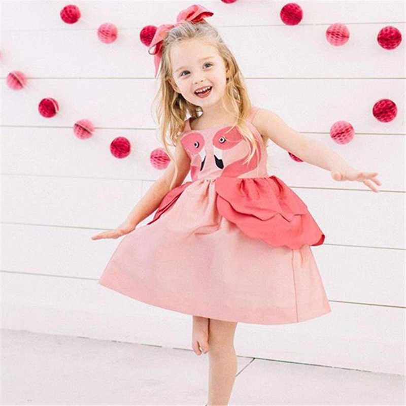 First Birthday Outfit Girl Princess Party Baby Tutu Dress Backless Toddler Girl Sweet Swan Dress Cute Little Girls Clothing 2019