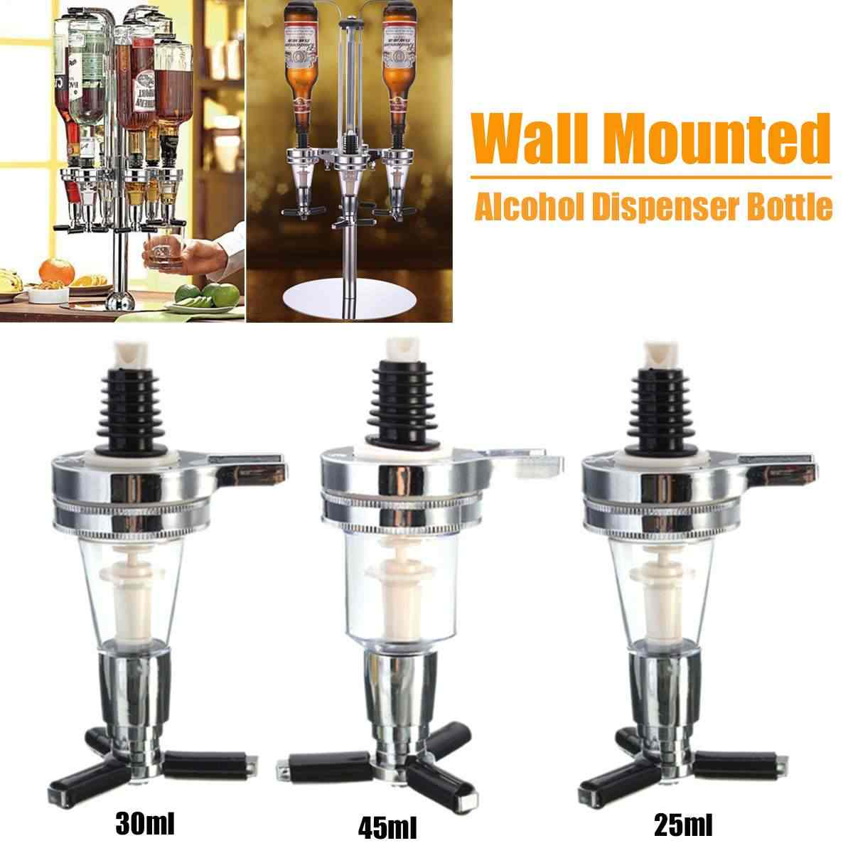 Fles Dispens Whiskey Bar Gereedschap Wandmontage Wijn Alcohol Drank Cocktail Bier Shot Dispenser Fles 25/30/45ml Wijn Divider