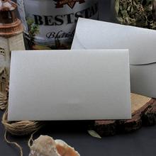 Wysoko spersonalizowany ekskluzywny biznes ślubny 250g gruby wytłoczony wzór srebrno-szary perłowy papier koperta tanie tanio CRANEKEY CN (pochodzenie) customized 250qht- Okna koperty Zwykłym papierze Biznes koperta