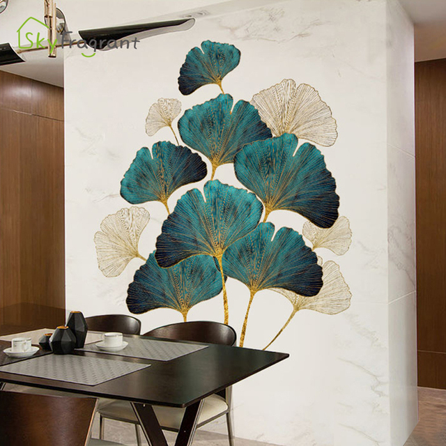 Fresh Leaves Wall Sticker Mural 4