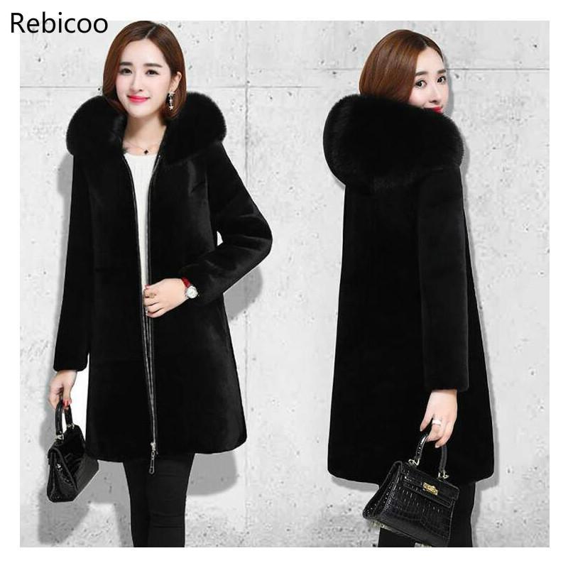 Fur Leather Warm Loose Coat Woman Overcoat Jacket Faux Fur Coat Plus Size Fur Coat Faux Fur Jacket