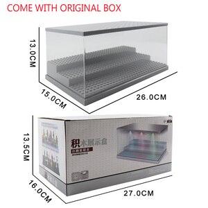 Image 5 - 3 pasos del USB de la luz LED acrílico a prueba de polvo de figuras de acción de caja Juguetes de bloques de construcción para niños