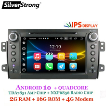 Silver robust Eight pulgadas IPS matriz 2Din Android10.Zero Radio coche DVD para SUZUKI SX4 MP4 MP3 Radio para FIAT secri Navitel GPS Navi