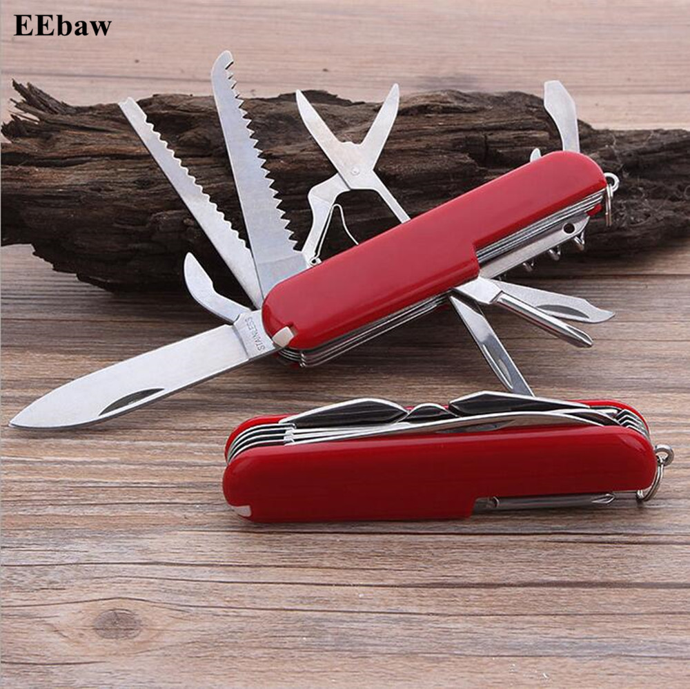 11 IN 1 Stainless Steel Army Knives Multifunctional Folding Knife Pocket Hunting Outdoor Camping Survival EDC Knife Tool