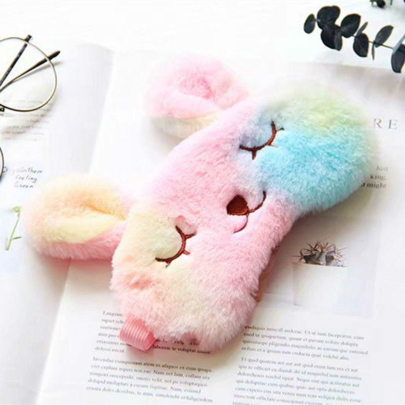 2019 Plush Animal Eye Cover Sleeping Mask Eyepatch Bandage Creative Travel Relax Blindfold Rabbit Nap Soft Face Skin Care Tools