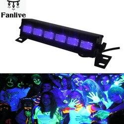 16 sztuk wysokiej mocy 18W Led Bar czarny światła UV fioletowy LED lampy spryskiwaczy ściany krajobraz umyć ściany światła na zewnątrz kryty dekoracji w Latarki laserowe od Lampy i oświetlenie na