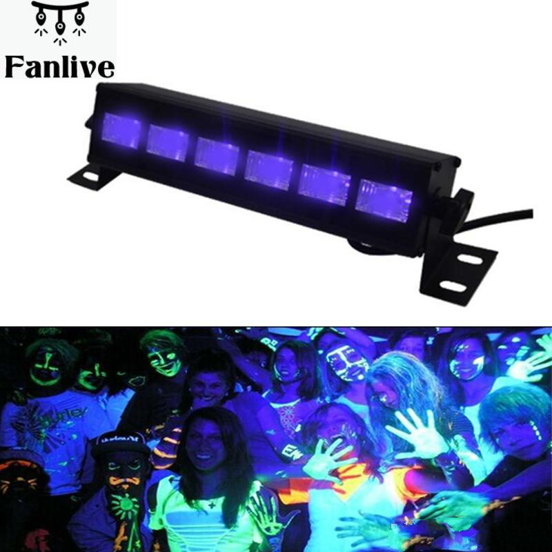 16pcs High Power 18W Led Bar Black Light UV Purple LED Wall Washer Lamp Landscape Wash Wall Lights For Outdoor Indoor Decoration
