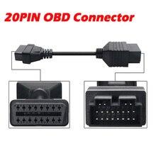 20 PIN adaptör OBD2 kablo KIA Sportage için 20PIN OBD konektörü 20 16PIN teşhis kablosu otomatik tarayıcı dönüştürücü konektörü