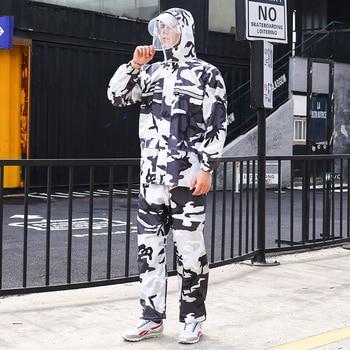 Thick Scooter Pants Raincoat Jacket Waterproof Set Outdoors Men Raincoat Pants Impermeable Regenjacke Plastic Suit 60YY