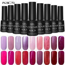 KADS 7ml Nail Gel Polish Soak Off UV Gel Nail Polish Gel Lacquer Nail Art Varnish Glue Top Base Coat UV gel nails Manicure(China)