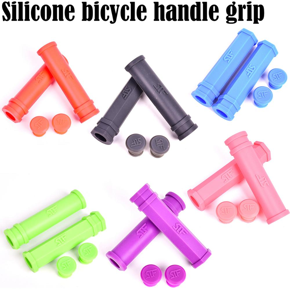 1 pair cycling motorbike mountain bikes grips bicycle handle grip silicon grips~