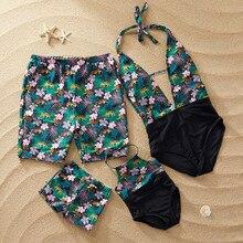 Одежда для купания для маленьких мальчиков; семейный купальник с принтом; купальный костюм; пляжные шорты; пляжная одежда; купальные плавки для пляжа;