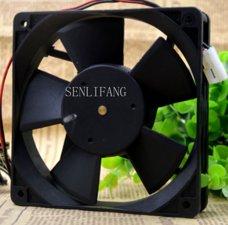 Free Shipping OD1225-24HB Inverter Mute Cooling Fan DC 24V 0.23A 12025 12CM 120*120*25mm 2 Wires