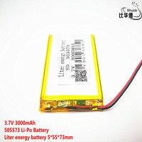 Litro bateria de energia Bom Qulity 3.7 V  3000 mAH  505573 bateria De Polímero de iões de lítio/bateria de Iões de lítio para o BRINQUEDO  BANCO DO PODER  GPS  mp3  mp4