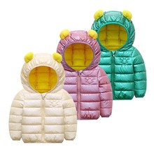 Kids Coat Jackets Girls Autumn Outerwear Hooded Toddler Boy Winter New Solid for