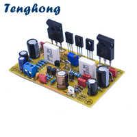 Tenghong Amplificador DE POTENCIA DE Audio placa 100W amplificadores de fidelidad definitiva MOS tubo Amplificador IRFP240 IRFP9240 Mono AMP DIY Audio