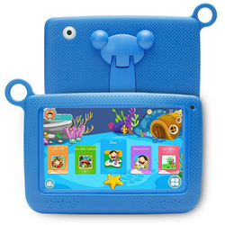 Baby Kids Learning Toys Portable Tablet Bluetooth+Wifi Kids Learning Tablet Protective Cover 7 Inch 1024 x 600 Eu Plug tablet