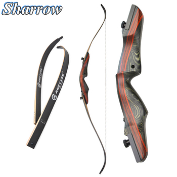 62 Recurve Bow 20-50lbs Takedown Wood Bow Archery  Hunting Longbow High-strength Maple, American Hunting Bow for Shooting