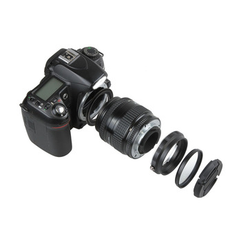 Macro Camera Lens Reverse Adapter Protection Set for Nikon D80 D90 D3300 D3400 D5100 D5200 D5300 D5500 D7000 D7100 D7200 D5 D610 camera lens adapter with optical glass infinity focus f minolta md mc mount lens to nikon dslr d750 d610 d5600 d7000 d7200 d800