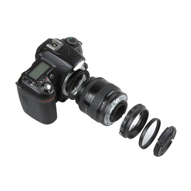 Set di protezioni per adattatore retromarcia per obiettivo Macro per Nikon D80 D90 D3300 D3400 D5100 D5200 D5300 D5500 D7000 D7100 D7200 D5 D610