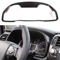Samochód wykończenie deski rozdzielczej rama pokrywy dla Toyota 4Runner SUV 2010 2019  z włókna węglowego ziarna w Wykończenia wskaźników od Samochody i motocykle na