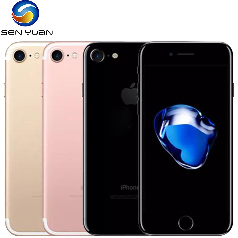 Разблокированный Apple iPhone 7, 4G LTE, 32 ГБ/128 ГБ/256 ГБ, 12 МП, четырехъядерный, сканер отпечатка пальца, 12 МП, оригинальный мобильный телефон