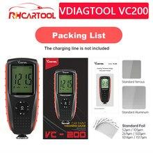 VDIAGTOOL-Pantalla de retroiluminación VC200/VC300, medidor de espesor para pintura de coche, medidor de espesor de película de coche Fe/nFe