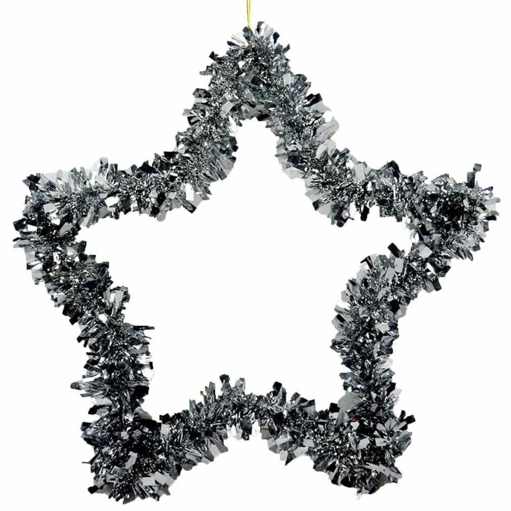 Tapas Redondas en forma de estrella Corona de Navidad tapas en múltiples formas guirnalda Color aleatorio decoración navideña para ventanas