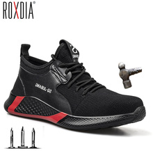 Safety-Shoes Sneakers Work-Boots Steel Casual Fashion Women with Toe-Cap Male RXM173