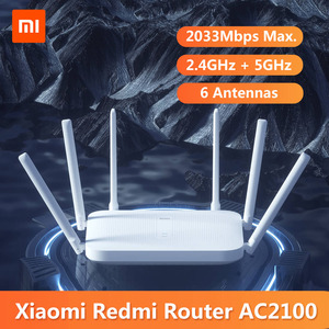 Original Xiaomi Redmi AC2100 Router Gigabit 2.4G 5.0GHz Dual-Band 2033Mbps Wireless Router Wifi Repeater 6 High Gain Antennas