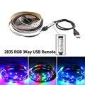 5 V USB LED RGB Streifen Licht Nicht Wasserdicht 5 V Led Streifen Licht TV Hintergrundbeleuchtung 2835 50CM - 5 M Mit RGB LED Controller 3 Schlüssel Fernbedienung