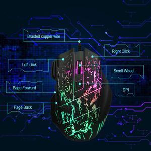 Image 5 - Mouse gamer usb com fio, mouse óptico colorido com 3200dpi e 7 botões para pc, laptop e computador, jogadores profissionais
