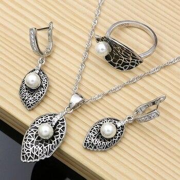 Silver 925 Freshwater Pearls Jewelry Set Jewelry Pearl Jewelry