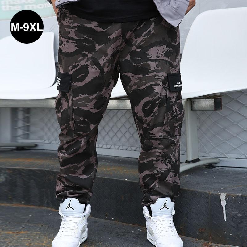 Plus Size Men Pockets Pants Cargo Harem Pants 7XL 8XL 9XL Hip Hop Casual Male Tatical Joggers Trousers Fashion Streetwear Pants