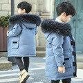 Парки для мальчиков-подростков детская зимняя теплая куртка для мальчика  пуховик длинная плотная зимняя куртка детское теплое пальто нату...