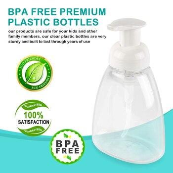 30-150ML Clear Foam Pump Bottle Spray Soap Foaming Mousses Liquid Dispensers Household For Children's Shower Health Bathroom 1