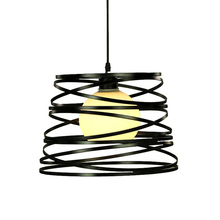 Modern Simple Bar Clothing Store Office Iron Art Black And White Pendant Dining Room Study Bedroom Single Head Creative