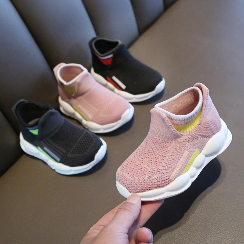 Childern Shoes Toddler Infant Baby Girls Boys Striped Sport Socks Shoes Leisure Soft Sneakers Kids Shoes Zapatos детская обувь