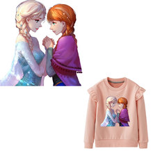 hot princess patches iron on transfer for clothes beautiful glitter thermal patch cartoon sticker heat girl dress