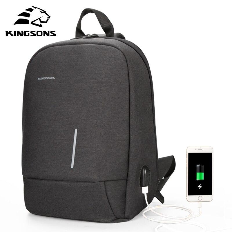 Kingsons Single Shoulder Backpack Men Mini Backpack Waterproof Laptop Backpack 13/13.3 Inch Small School Bags For Teenage Boys
