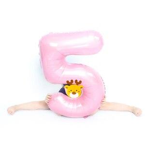 Image 5 - Globos de aluminio con número de 32 pulgadas para decoración, globo de aire para fiesta de cumpleaños para niños, figura de 30 ans, lote de 2 unidades