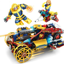 Ironman Hulkbuster Building Blocks Compatible With Thanos Shazam Iron Man 7014 Marvel Super Heroes Avengers Endgame Figures Toy
